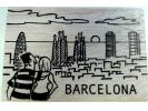 Personalised wooden postcard Sights (Barcelona)
